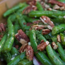 """Delicious """"Om My Goodness Green Beans"""" recipe found in the book"""
