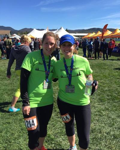 Krista Clarke and Savannah at the Ragnar Relay Adirondack 2015