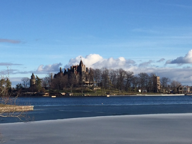 The view of Boldt Castle, less than half a mile from Savannah's doorstep