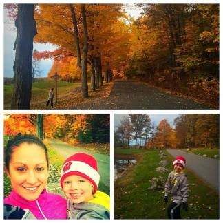 Sawyer and Savannah out for a run this past fall on Wellesley Island